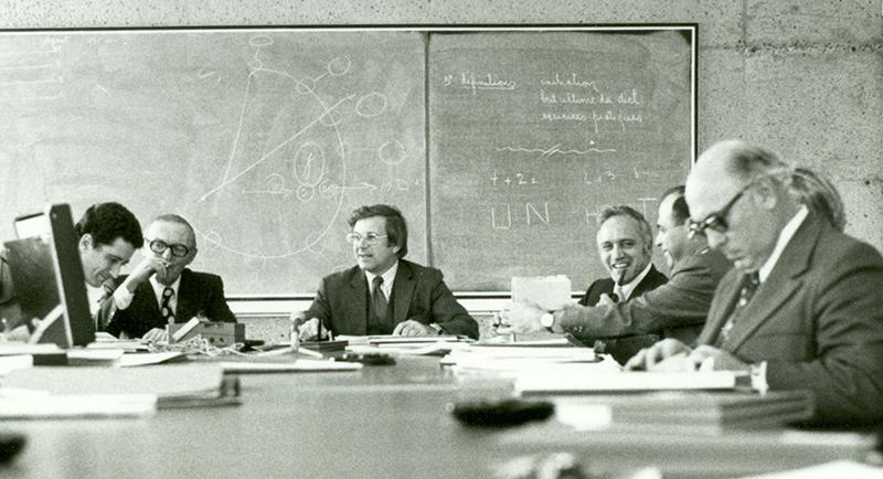 CA (ou CE) de l'INRS et Louis Berlinguet (au centre). Crédit photo : photographe inconnu.