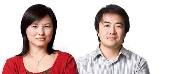 Les professeurs Dongling Ma et Tsuneyuki Ozaki