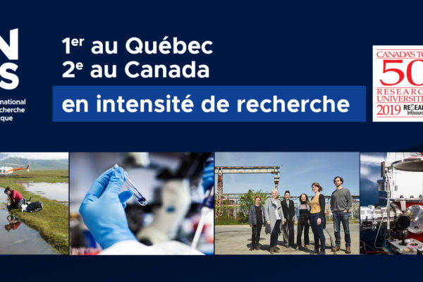 INRS remains Québec leader for research intensity