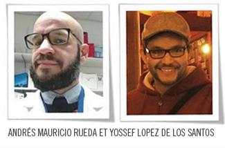 Andres Mauricio Rueda et Yossef Lopez de Los Santos