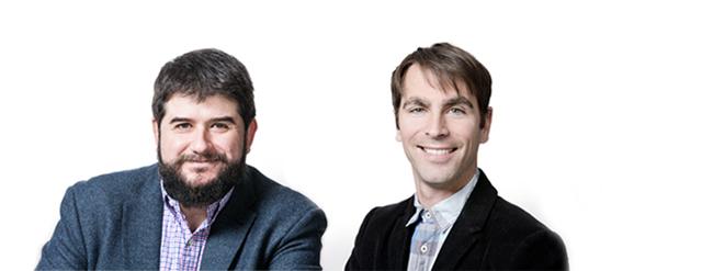 Les professeurs Emanuele Orgiu et Marc André Gauthier