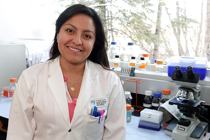 Mélany Juárez, étudiante à la maîtrise en sciences expérimentales de la santé