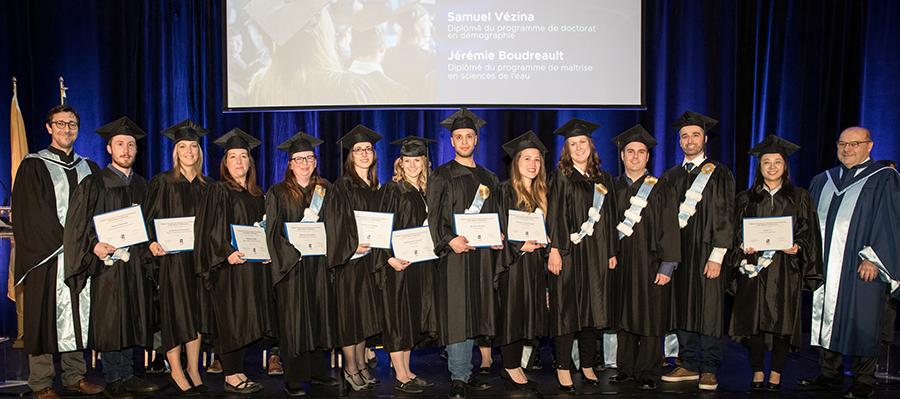 Des diplômé(e)s se distinguent à la collation des grades 2018-2019