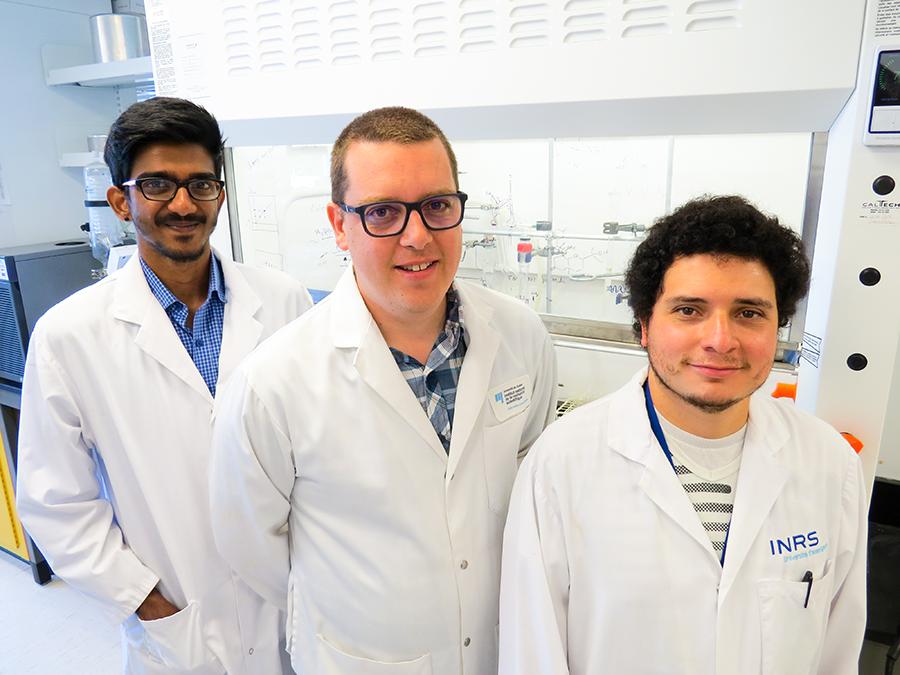 Charles Gauthier professeur chercheur en chimie des carbohydrates et produits naturels à l'INRS et son équipe de recherche