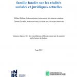 Pour une réforme du droit de la famille fondée sur les réalités sociales et juridiques actuelles,