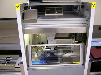 Photo de l'intérieur d'une machine à rayon x