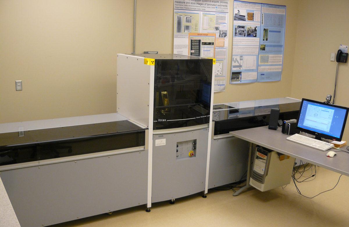 Laboratoire de géochimie, imagerie et radiographie des sédiments de l'INRS