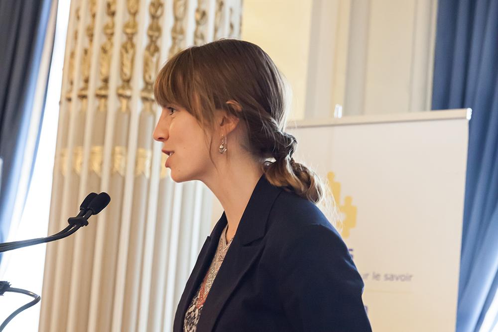 La doctorante Marie-Ève Jean, lauréate 2017 du prix Ressources naturelles de l'Acfas.