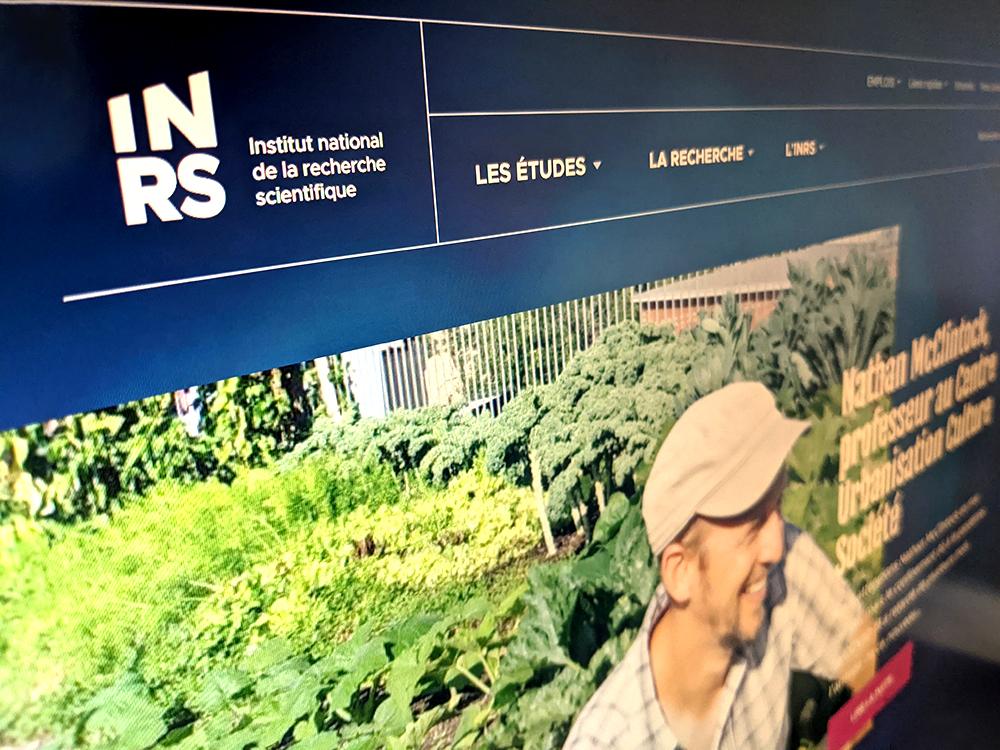 Un nouveau site Web distinctif pour l'INRS