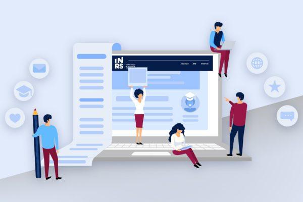 Un site Web unique à l'image de l'INRS
