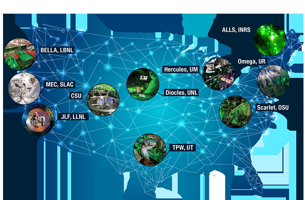 Les 10 membres du réseau LaserNetUS