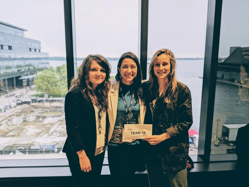 Anne Carabin, Patricia Gomez et Claudie Ratté-Fortin de l'équipe Clean Nature.
