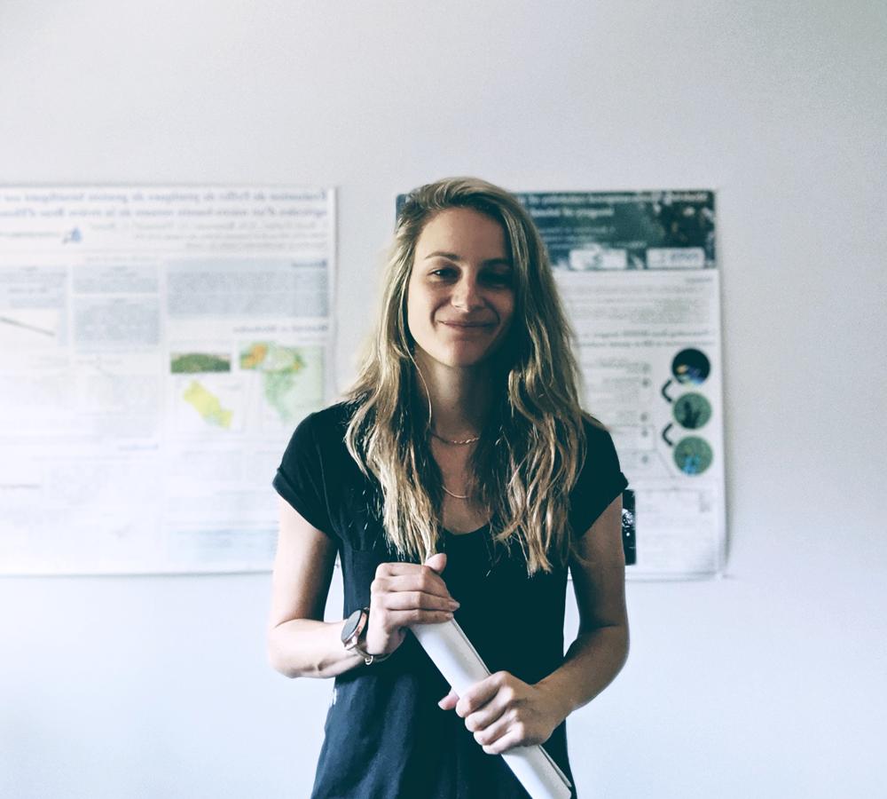 Claudie Ratté-Fortin, diplômée du doctorat en sciences de l'eau à l'INRS