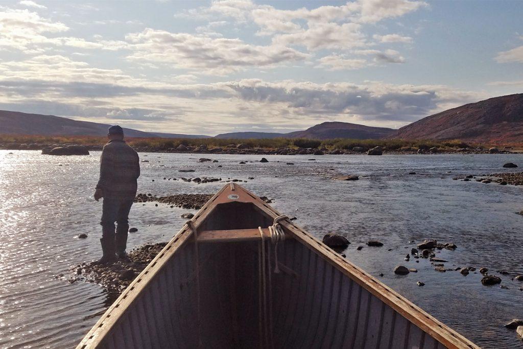Embarquation sur la rivière Payne.