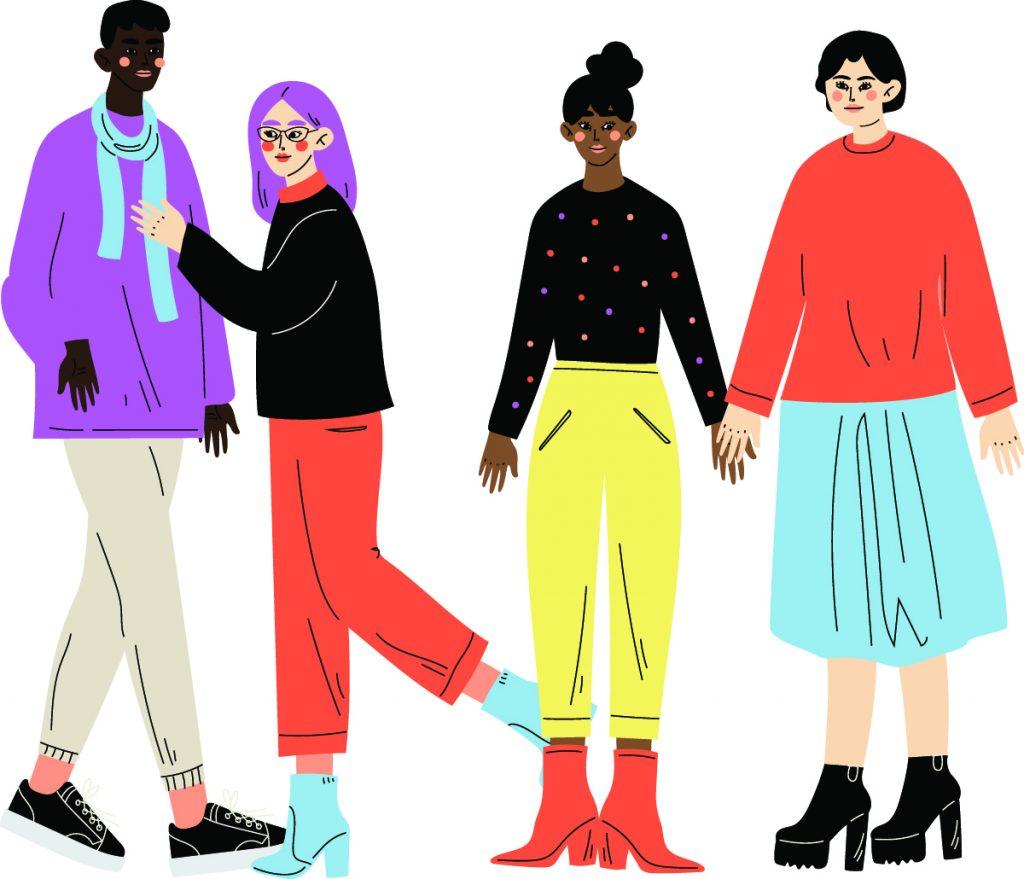inclusion inclusifs personnages de la diversité de genre