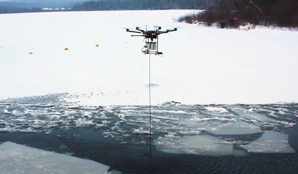 échantillonnage par drône dans les lacs