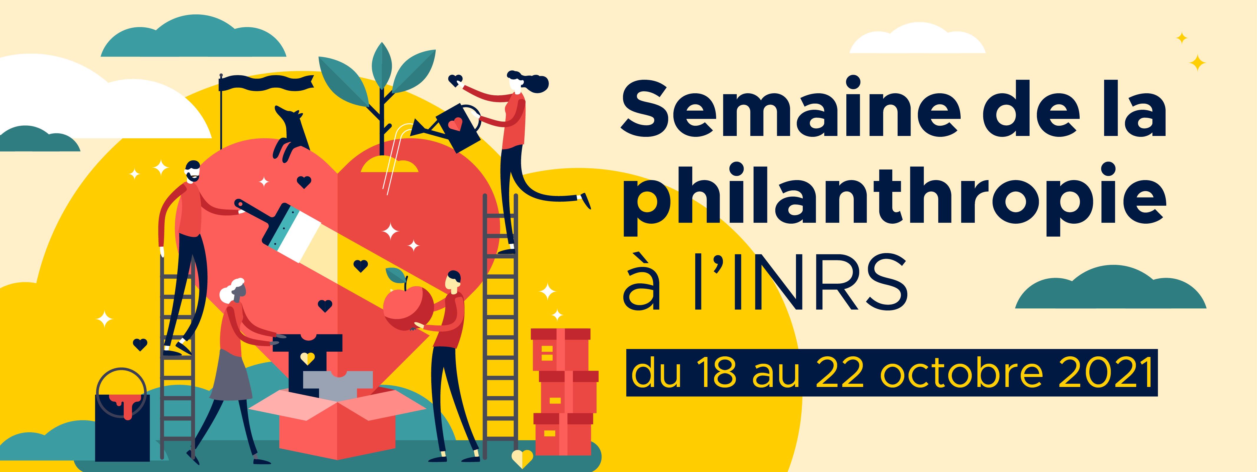 Semaine de la philanthropie à l'INRS du 18 au 22 octobre 2021